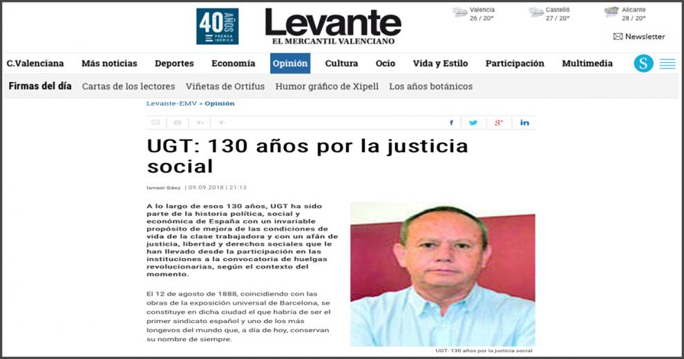 Levante UGT 130 aniversario