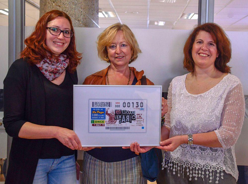 Cupón ONCE en homenaje al 130 Aniversario de UGT